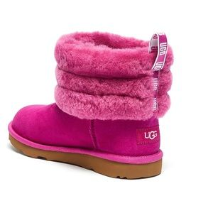 Ugg Toddler girls fluff mini-quilted boots Size 8